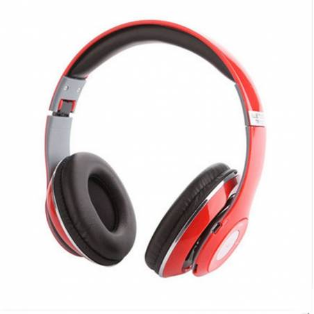 Awstro Red Bluetooth High Bass TM-010S Dynamic Bold Stereo Headphone