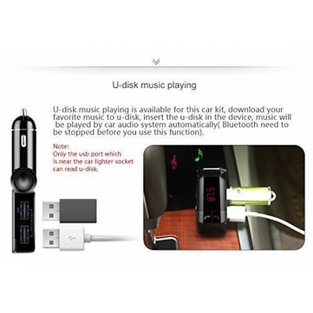 Awstro Bluetooth Dual Port Car Charger 2.1A with Turbo Charging