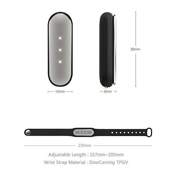 Mi Band Smart Wristband for Android, iPhone and Other Smartphones