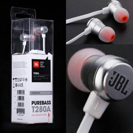 Jbl T280a Extra Bass 3.5mm Jack with mic earphones