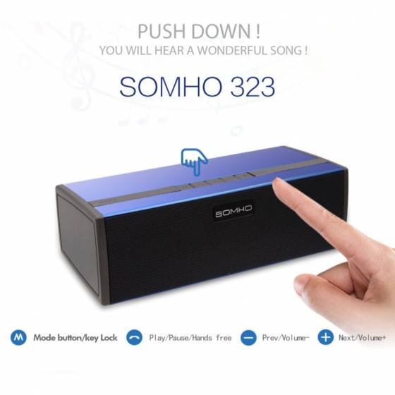 SOMHO Super Bass S323 Wireless Portable Bluetooth Mini  Speaker