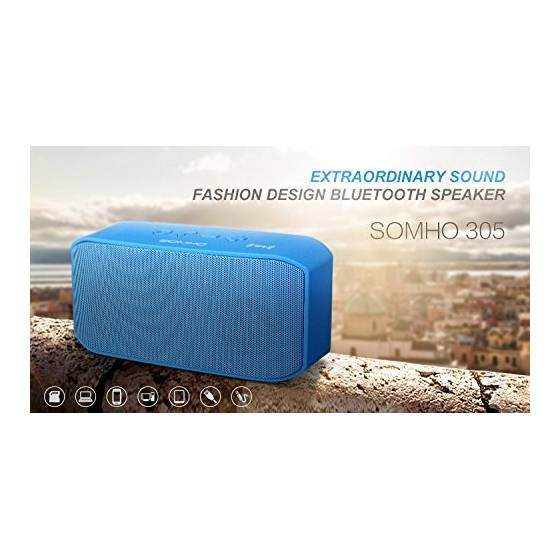 SOMHO S305 Dual Speakers Super Bass Bluetooth Wireless Mini Speakers