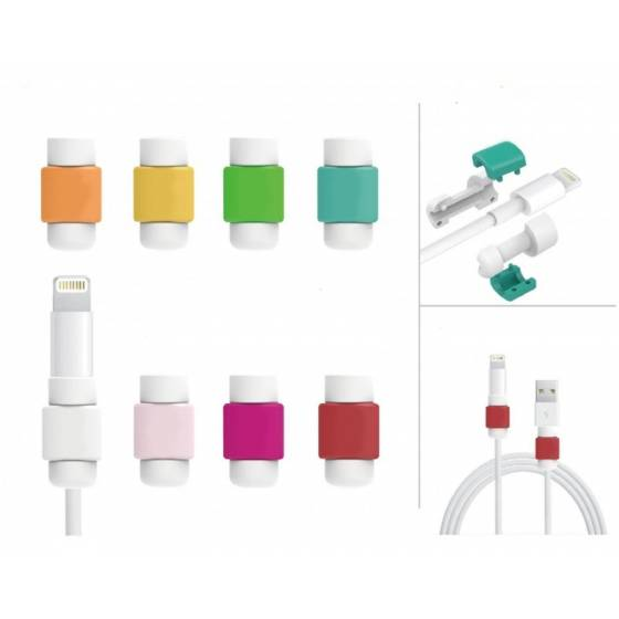 iPhone & SmartPhone Cable Protector & Saver Usb Data Charging Cable. 1 Set (2 Pieces) For Both Ends Of Cable