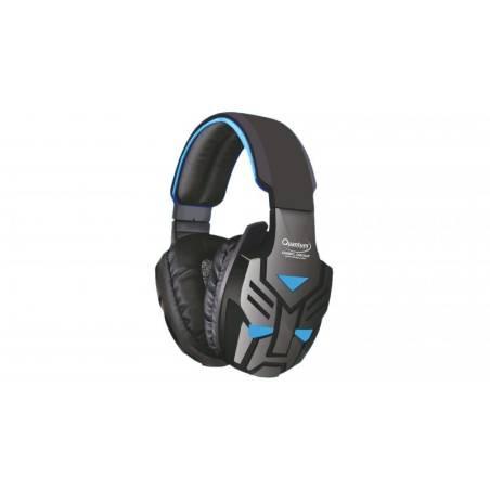 Quantum Qhmpl Qhm855 Stereo Premium Headphone Mic Vibration Bass Gaming Movie Music