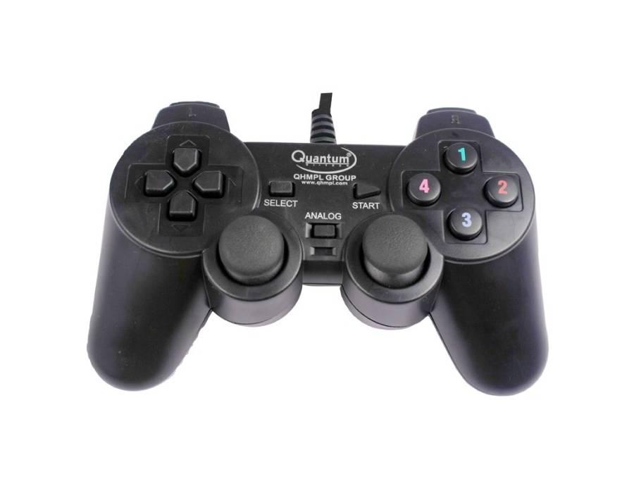 Quantam QHMPL QHM7468 USB Vibration Game Pad Remote Joystick