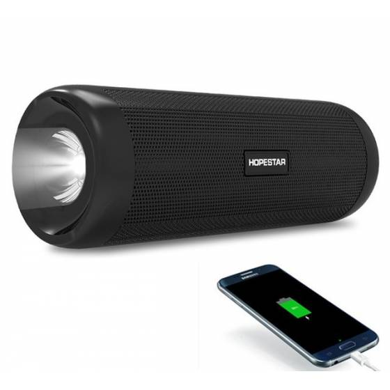 Hopestar P4 Bluetooth Speaker Portable Wireless inbuilt Power Bank & Torch 10W Stereo Bass