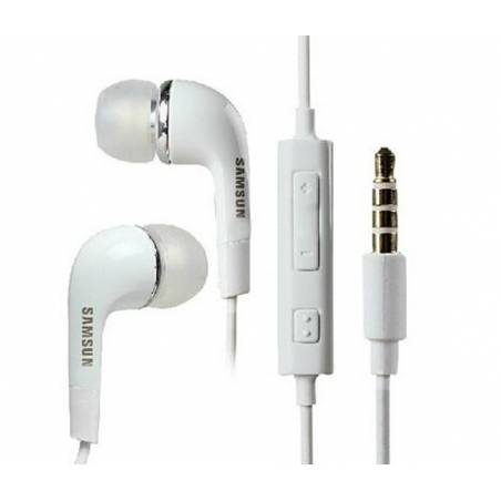 Samsung EHS64AVFWE Earphones with Remote and Mic (White)
