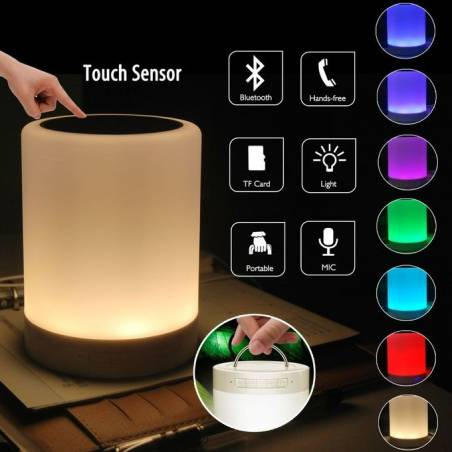 Touchlight Bluetooth Speaker Colour Changing Rechargeable - Smart Touch Control Speaker - Night Outdoor Table Lamp