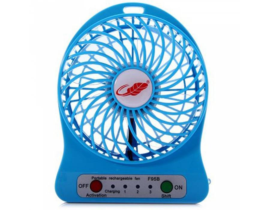 Awstro 4-Inch Rechargeable Battery USB Mini Fan (Color May Vary)
