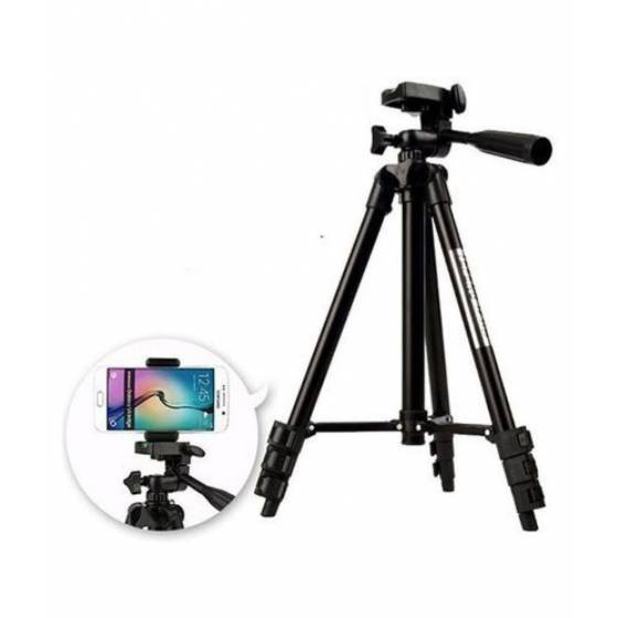 Professional ET-3120 Tripod For Mobile & Cameras With Carry Bag (Supports Up to 3000g)