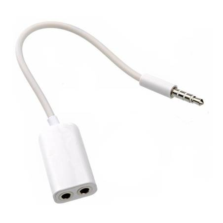 Audio Splitter Cable 3.5mm Male to 2 Port 3.5mm Female for All Devices