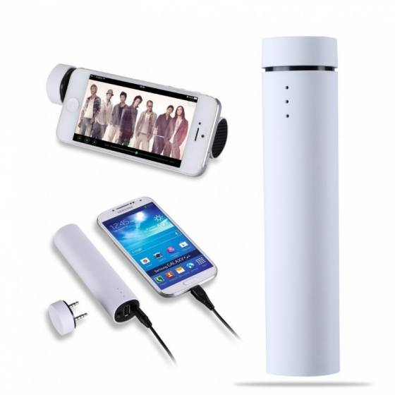 Power Jam 3 in 1 Mobile Stand Power Bank & Speaker - 4000mah Power Bank inbuilt, Mobile Bluetooth Speaker & Mobile Holder