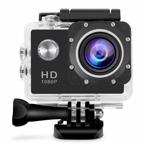 Ultra HD 1080p Action Sports Waterproof Camera 12MP 170 Degree Wide Angle Motion Detection Camcorder with 2 Batteries & All kits