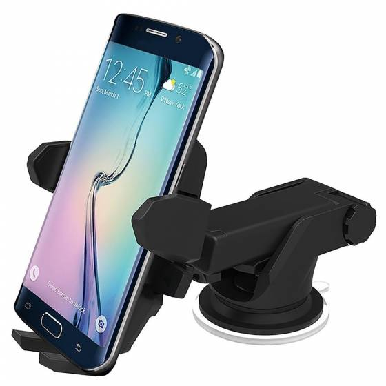 Long Neck Quick Touch One Premium 360 Adjustable 3-in-1 Car Mount Holder For All Smartphones (3rd Generation, Black)