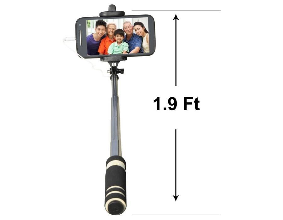 Selfie Stick Pro Handheld Extendable Selfie (Sweat Absorption Slip)