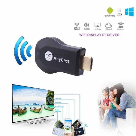 Google Anycast M2 Plus WiFi 1080P FHD HDMI TV Stick DLNA Wireless Chromecast Airplay Dongle