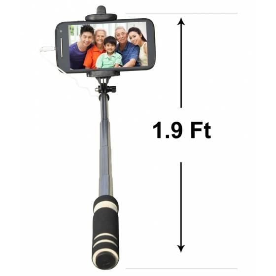 Selfie Stick Pro Handheld Extendable Selfie (Sweat Absorption Slip)