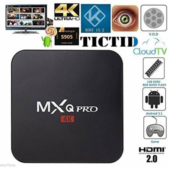 MXQ PRO 4K TV Box Amlogic S905 Quad Core 64Bit Android TV Box 5.1 HDMI 2.0 WIFI 1G RAM 8G ROM Media Streaming Device
