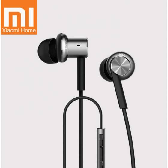 Mi Earphone Dual Driver Dynamic Balanced Armature Circle Iron Mic Metal