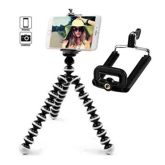 Flexible Octopus Gorillapod Tripod For Mobile, DSLR, Action Cameras With Mobile Attachment