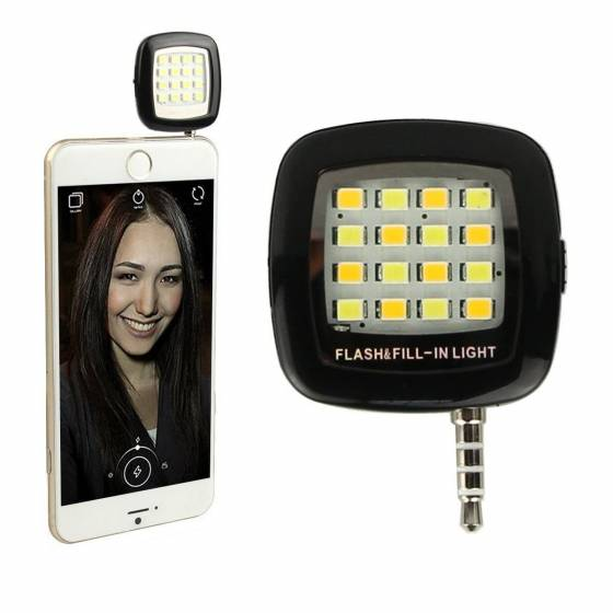 Mobile Selfie Flashlight 16 LED Selfie Enhancing Flash Light, Torch