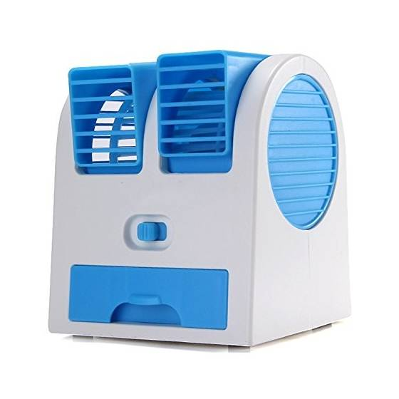 Mini Air Cooler Rechargeable Cooler & Portable Dual Bladeless Air Conditioner Water Air Cooler