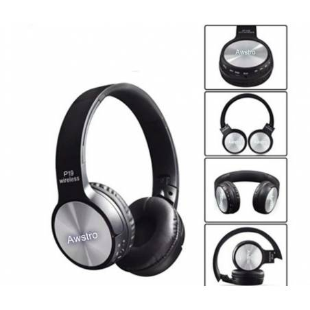 Awstro P19 On Ear Wireless Headphones - Extra Bass & Noise Cancelling