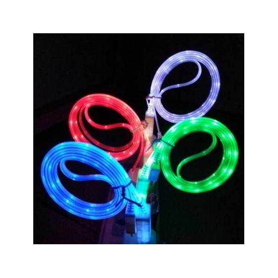 LED Light Mobile Cable Micro USB Charger Data Sync Cable