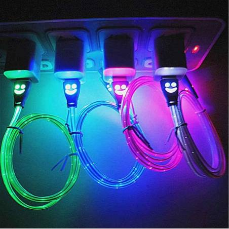 LED Light Micro USB Charger Data Sync Cable Mobile/Tablet