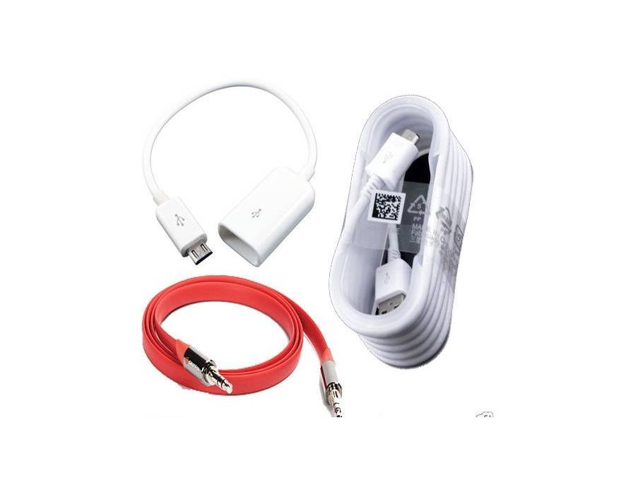 Combo 3 in 1 Micro USB OTG Cable,Samsung Fast Charging Data Cable,Griffin Aux Cable