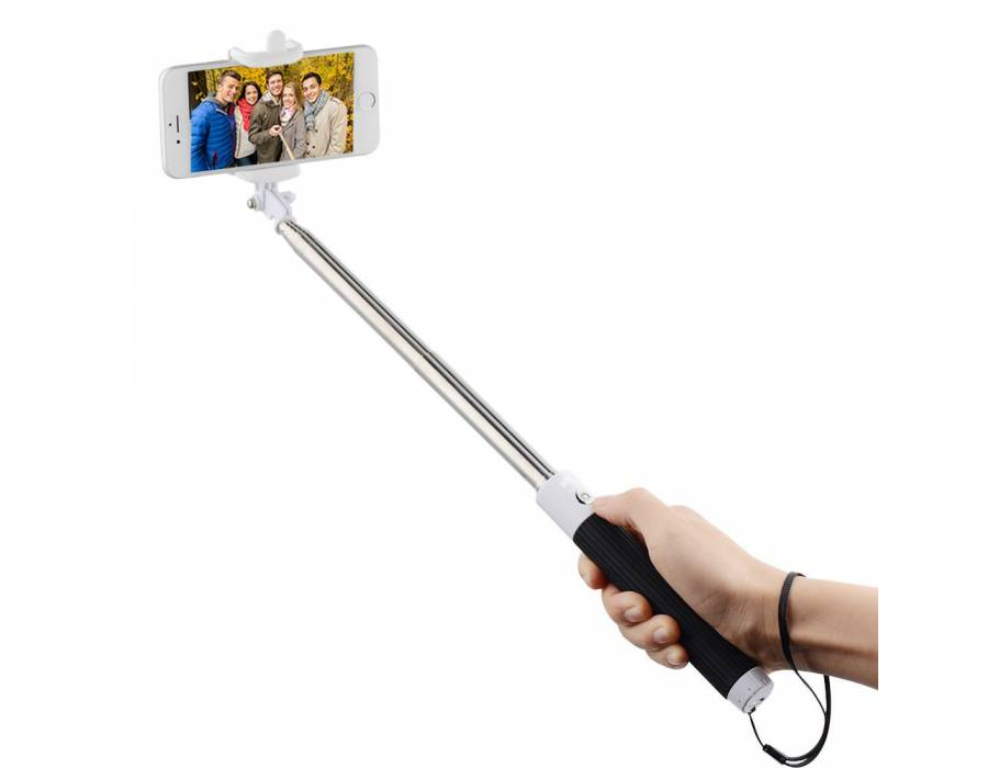 Selfie stick with Aux and button For All Smart Phones / Apple iPhone