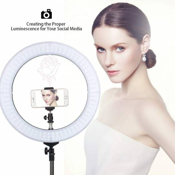 Big LED Ring Light for Camera Smartphone to Capture Your Photo and Video For Tik Tokers & Youtube Video Creators