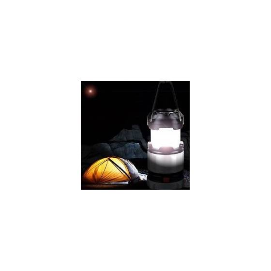 LED Solar Emergency Light Lantern + USB Mobile Charging point, 3 Power Source Solar, Battery, Travel Camping Lantern