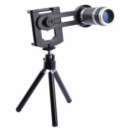 Zoomer 8X Optical Zoom Telescope Mobile Camera Lens Kit with Tripod and Adjustable Holder