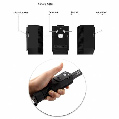 Yunteng YT 1288 Bluetooth Selfie Stick