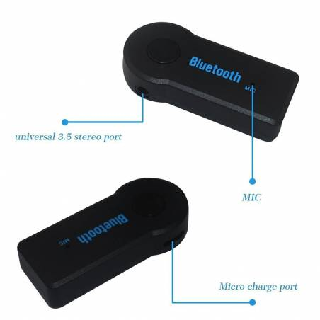 Wireless 3.5mm Car Bluetooth Music Receiver With MIC Stereo Output Bluetooth 4.1