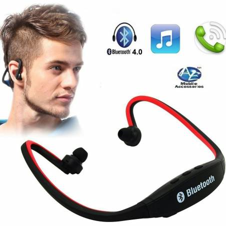 Wireless Bluetooth On-ear Sports Headset Headphones (with Micro Sd Card Slot and FM Radio)