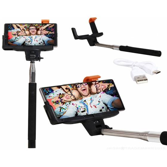 More about Selfie Stick Monopod With Bluetooth Remote Wireless Shutter Connectivity Compatible with all smart phones and iphones