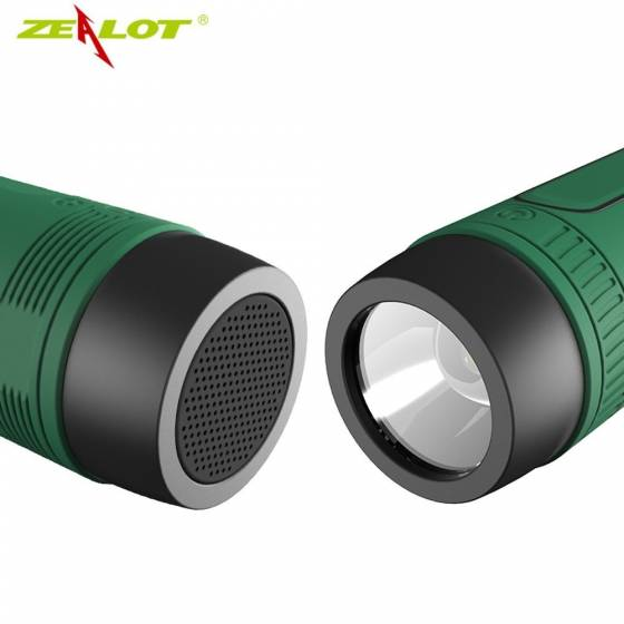 ZEALOT S1 Multifunctional Sports Waterproof Wireless Bluetooth Speaker Flashlight/TF Card Support/FM Radio/Power Bank