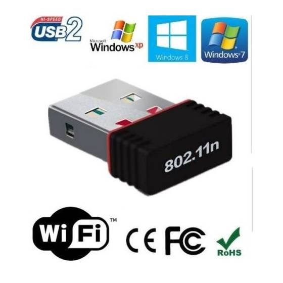 Mini Wi-Fi Receiver 300Mbps,  USB 2.0 Wireless Wi-Fi Network Adapter