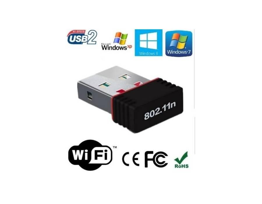 Mini Wi-Fi Receiver 300Mbps,  USB 2.0 Wireless Wi-Fi Network Adapter
