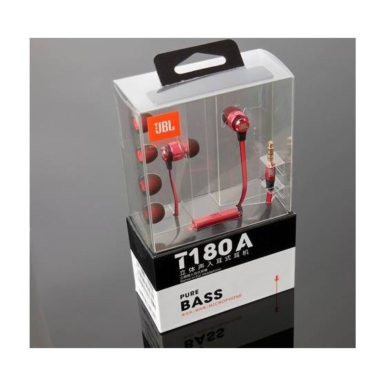 JBL T180A In-Ear Headphones with Mic